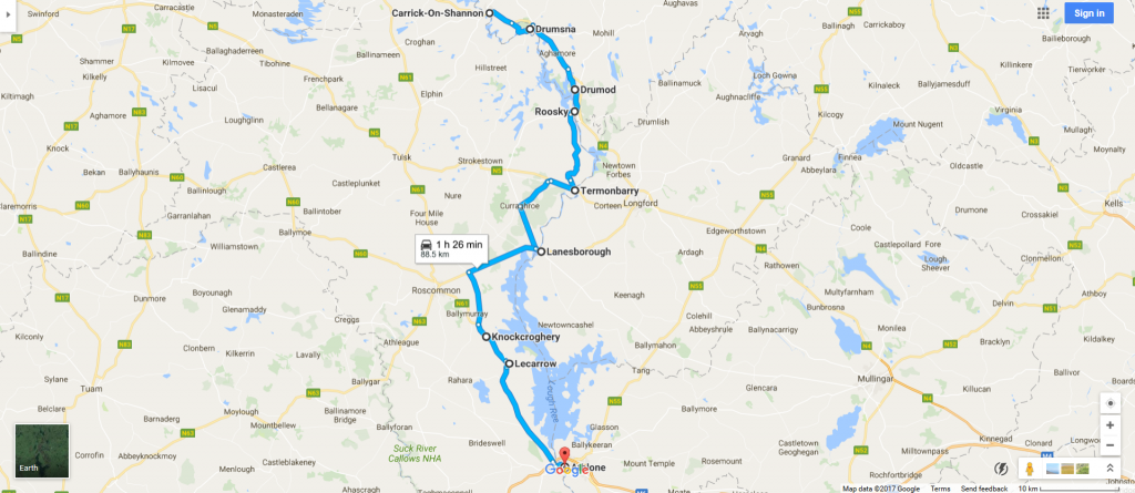 CarrickonShannon to Athlone includes Lough Ree Shannon Scenic